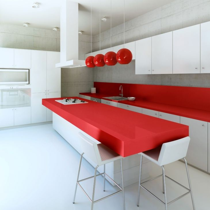 Modern kitchen interior at daylight